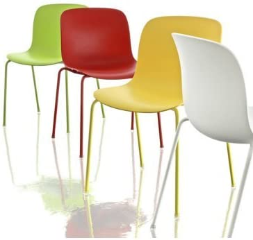 Sedie In Polipropilene Colorate.Magis Troy N 2 Sedie Impilabile In Polipropilene Colorato Nero