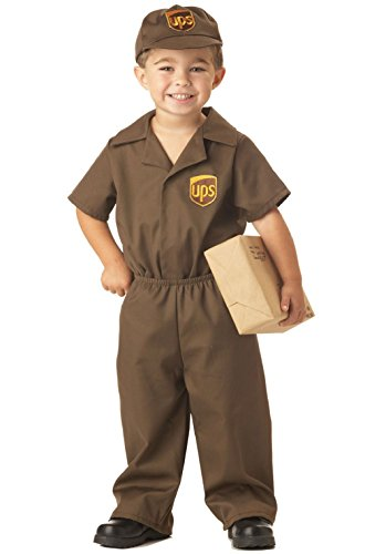 Ups Guy Halloween Costume (UPS Delivery Guy Licensed Uniform Boys Toddler Costume)
