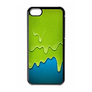 Iphone 5C Case, Green and Blue Painting Case for Iphone 5C black lm2c17897405