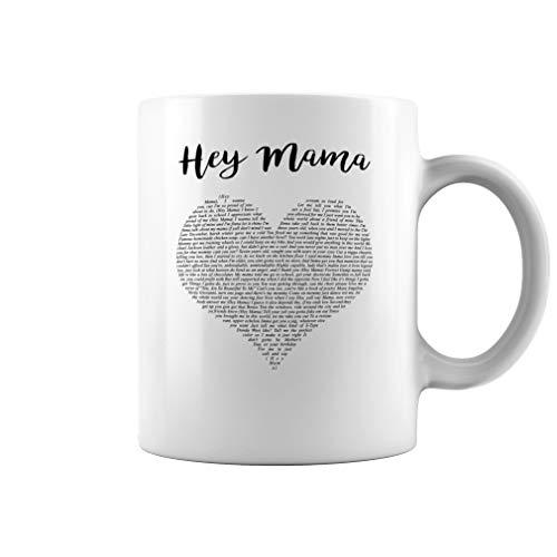Hey Mama Song Lyrics Ceramic Coffee Mug Tea Cup (11oz, White)