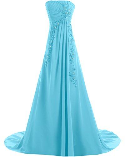Missdressy - Vestido - trapecio - para mujer azul claro 36