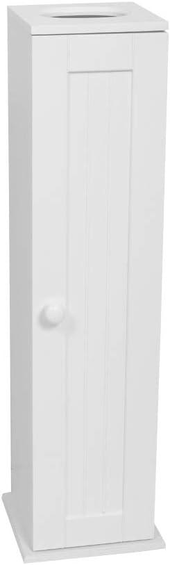 Zenna Home Toilet Tissue Cabinet, Bathroom Storage, White