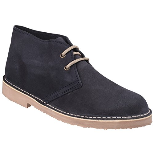 Cotswold Mens Sahara Suede Leather Casual Supported Heel Desert Boots Bleu Marine