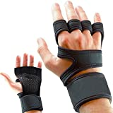Dangslxm Cross Training Gloves with Wrist Support for Fitness, WOD, Weightlifting with Non-Slip Silicone Padding to Avoid Calluses for Men & Women, Workout Gloves Strong Grip(M)