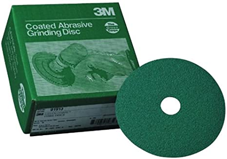 3M 01913 Green Corps 5 x 7//8 50 Grit Fiber Disc
