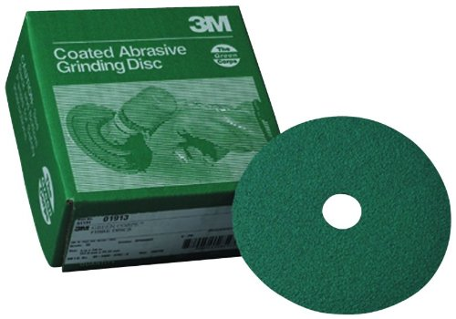 3M 01915 Green Corps 5'' x 7/8'' 24 Grade Fiber Disc (Pack of 5)