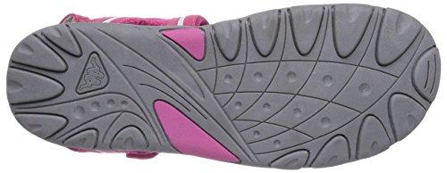 Kappa BREEZY T Footwear Unisex-Kinder Knöchelriemchen Sandalen Pink (2210 pink/white)