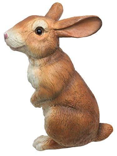 Universal Sculptural Standing Bunny Curious Rabbit Garden Statue (Handcrafted Home and Garden Statue), 10-Inch
