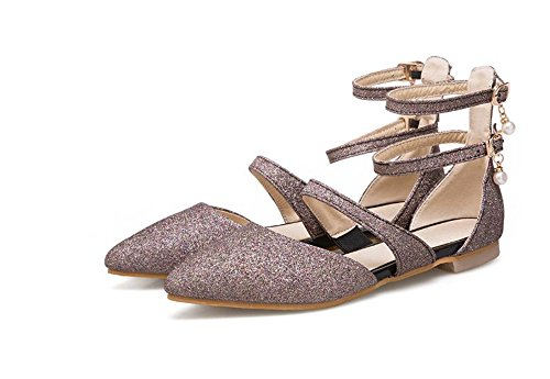 Office Slip for Flats Heel Toe Pointy Walking Shoes Daily Women On Believed Purple Low q0pxxBE