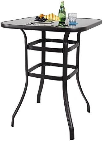 PHI VILLA Bar Height Bistro Table Outdoor Bar Table
