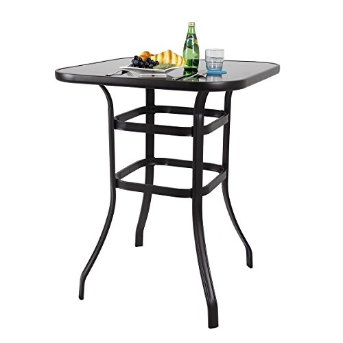 PHI VILLA Bar Height Bistro Table Outdoor Bar Table ()