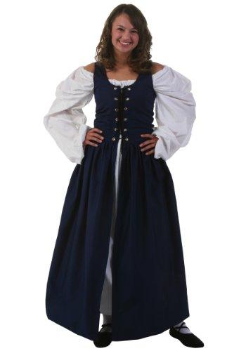 [Fun Costumes Navy Irish Renaissance Dress Large] (Irish Chemise)