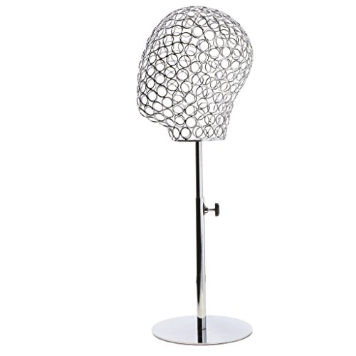 B Blesiya Abstract Adjustable Height Mannequin Head Hat Caps Stand Display Rack Hair Wigs Holder for Salon Home Decor Retail Stores