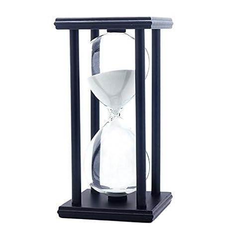 Oottati Madera Plaza Negro 30 Minutos Blanco Reloj De Arena