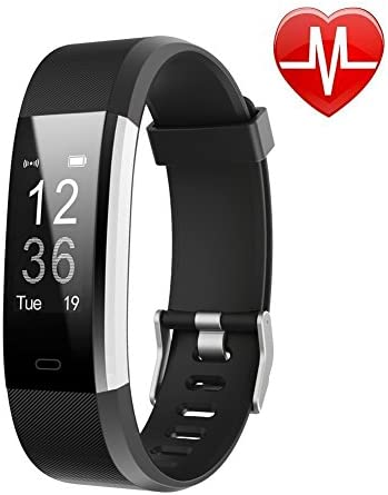 LETSCOM Fitness Tracker HR, Activity Tracker watch with heart rate monitor, waterproof smart fitness band with pedometer, calorie counter, pedometer watch for children, women and men