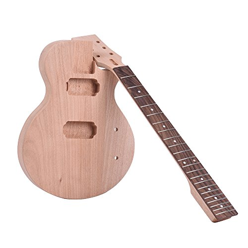 - Festnight Muslady Children LP Style Unfinished DIY Electric Guitar Kit Mahogany Body & Neck Rosewood Fingerboard Double Dual-coil Pickups