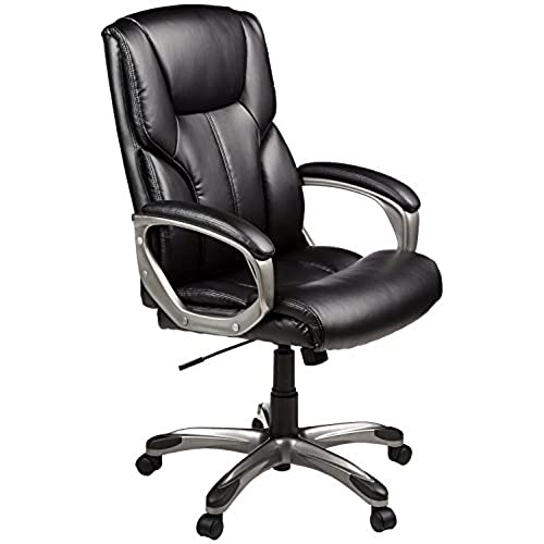 AmazonBasics High-Back Executive Chair - Black Comfortable Office Chairs O