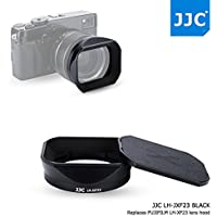 JJC Bayonet Black Square Metal Lens Hood Shade with ABS Slide-in Hood Cap for Fujifilm Fujinon XF 23mm F1.4 R Wide Angle Lens on X-Pro2 X-Pro1 X-T2 X-T1 X-T20 X-T10 X-E2S replaces Fuji Hood LH-XF23