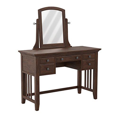 Bassett Bedroom Sets - INSPIRED by Bassett BP-4201-05K Vanity Set, Vintage Oak