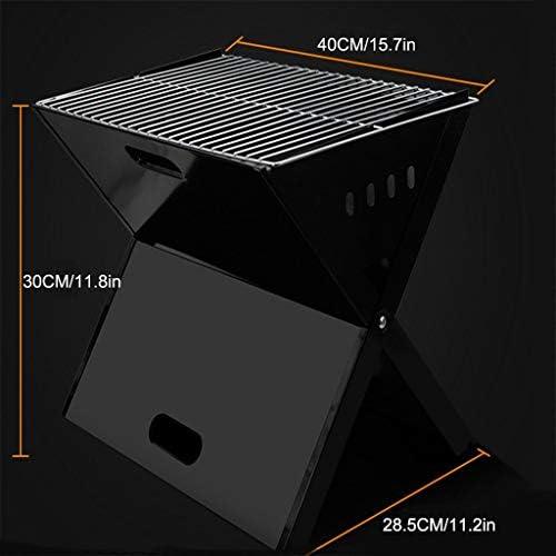 Barbecue à Charbon Grill Trois dimensions Ventilation Barbecue Pliable légère en acier inoxydable for 5People Ou plus Camping pique-nique Accueil Black Party