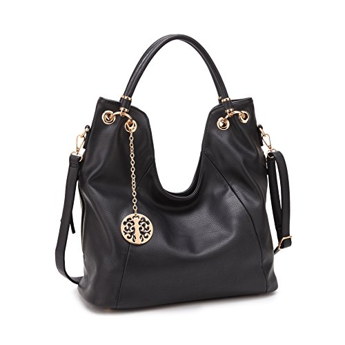 Soft Woman Fashion Tote Trendy Leather Purse Hobo Vegan Cross Black Bag Lady body for for Handbag BqXw4EPwx
