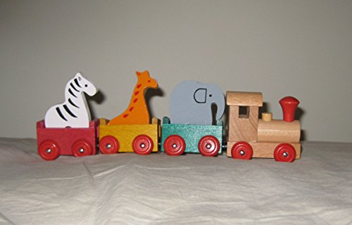 - Wooden Animal Circus Train Set 7 Piece