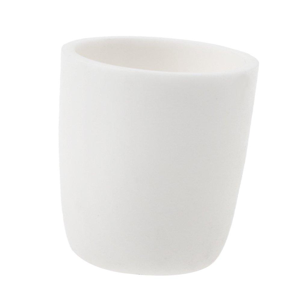 MagiDeal Ceramica Cilindrica Crogiolo Corindone Per Esperimenti In Laboratorio