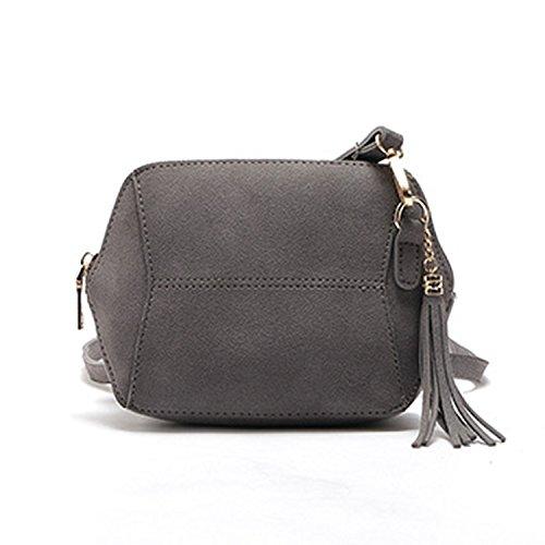 sólido para de 2018 borla cuero de Availcx bolso cremallera color hombro con bolso de mujer de Satchel Yv6qf