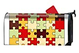 Verna Christopher Puzzle Image Magnetic Mailbox Cover Yard Decor Standard