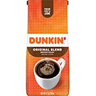 Dunkin' Original Blend Medium Roast Ground Coffee, 12 Ounces (Packaging May Vary)
