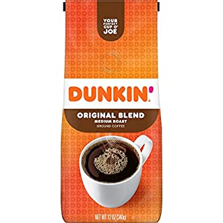 Dunkin' Original Blend Medium Roast Ground Coffee, 12 Ounces (Packaging May Vary)