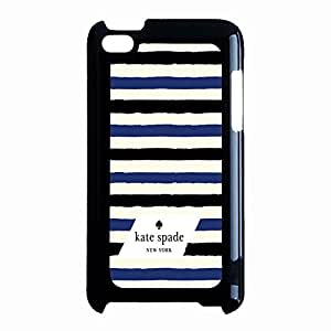 Classic Stripes Kate Spade Phone Case Cover for Ipod Touch 4th Generation Kate Spade Logo Unique Design