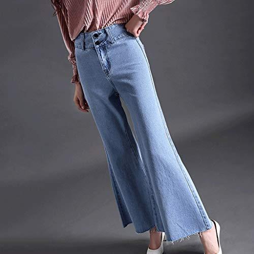 2 Donna Alta A Gamba Pantaloni Rxf Slim Vita Svasati Jeans Da Stretch Larga Ux1wx7t4q