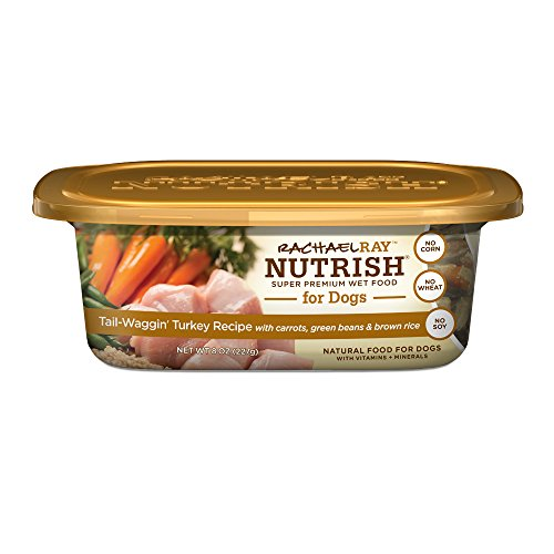 Rachael Ray Nutrish Natural Wet Dog Food, Tail-Waggin' Turkey, 8 oz tub, Pack of 8