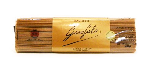 Garofalo Spaghetti Whole Wheat Pasta, 16-Ounce (Pack of 4)