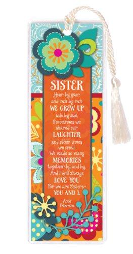 Sister We Grew Up Laughter Memories Love 2 x 6 Inch Vinyl-Encased Bookmark ()