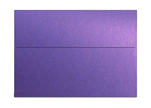 (Shimmer Violet Satin A7 (5-1/4-x-7-1/4) Envelopes 25-pk - 118 GSM (32/80lb Text) PaperPapers 5X7 Invitation, Card and DIY Greeting Envelopes)