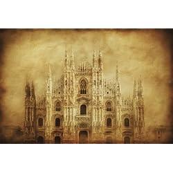 Vintage Photo of Duomo Di Milano, Milan, Italy Photographic Poster Print, 16x24