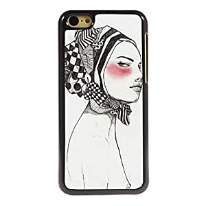QYF Woman Askant Pattern Aluminum Hard Case for iPhone 5C