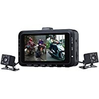 DV168 Motorcycle Car Mounted Sports Dual 0.3MP HD Camera 3.0 LCD DVR Video Dash Cam Recycle Recording Camcorder