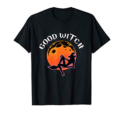 Good Witch Halloween Costume Broom Witch Hat T-Shirt ()