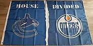 House Divided - Vancouver vs. Edmonton Flag - 3ft x 5ft