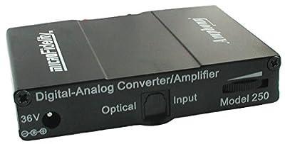 Digital-to-Analog Converter and 80 Watt Stereo Amplifier Model 250 Black