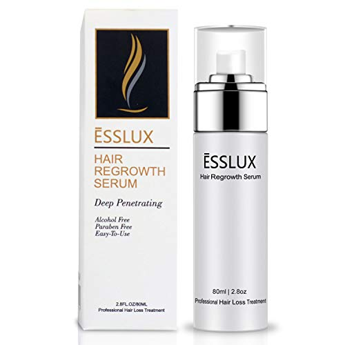 Hair Loss Serum, ESSLUX Hair Regrowth Treatment 5% Minoxidil Topical Solution for Hair Loss and Hair Thinning, Alcohol-Free, Suitable for Men and Women (80ML) ()