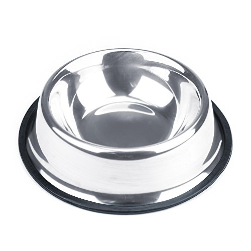 Weebo Pets Stainless Steel No-Tip Food Bowls - Choose Your Size, 4-ounce to 72-ounce (8oz. Terrier)