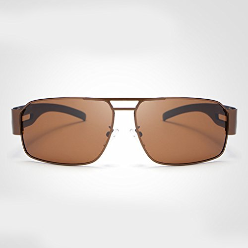 Hombre de sol marrón de vendimia aire lentes retro Gafas solar de libre sol las UV conducción la la de protección protector de lente de Gafas al Providethebest Gafas polarizada de wRfzqUpxn