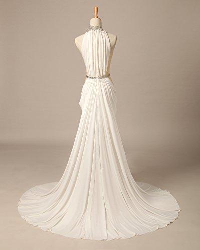 maniche Senza Donna Vestito bianco Mall 40 Bridal ROqxawE1