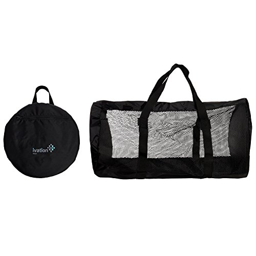 Dive Bag - Foldable Duffel Dive Bag - Compact, Durable Mesh Duffel Bag Features Storage Pouch for Diving, Scuba, Snorkel, Swim, Surf, Sports & More