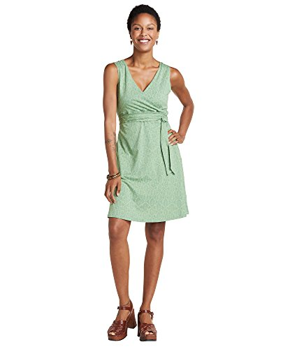 Toad&Co Women's Cue Wrap Shortsleeve Dress, Agave Batik