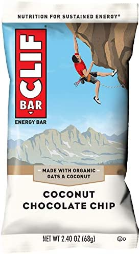 CLIF BAR – Energy Bars – Coconut Chocolate Chip – 2.4 Ounce Protein Bars, 12 Count